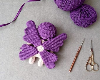 Crochet Sleepy Butterfly Doll Amigurumi Toy