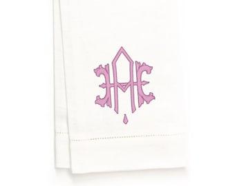 Portia II Hand Towel, White Linen