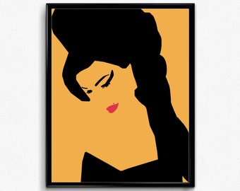 Amy Winehouse Poster- Feminist Poster, Music Minimalist Print