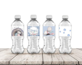New Nest Baby Shower Water Bottle Labels