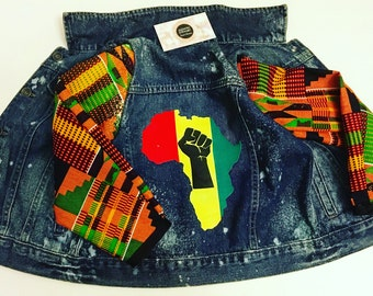 Kente Denim Jacket