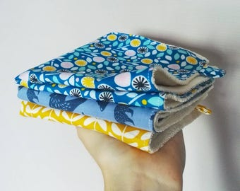 Many patterns available organic washable paper - 3 towels 2 in 1 - organic-
