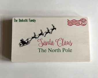 Letter to Santa Wood Sign