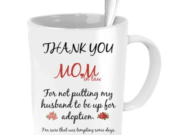 Mother in law wedding gift, personalized mother in law mug, mothers day gift for mom in law, mother in law christmas gift, wedding gifts