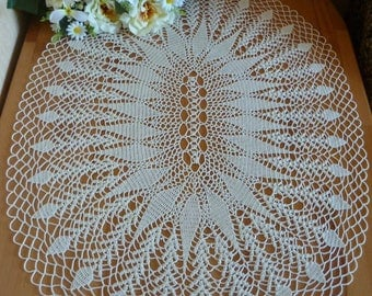 oval table cloth,crochet doily,lace table cloth,crochet napkin,large doily,large tablecloth,tablecloth,table centerpiece,beige centerpiece