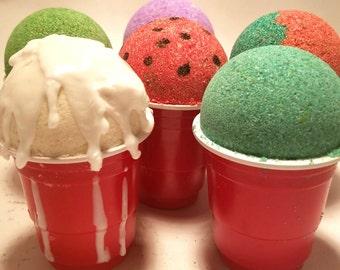 snowball bath bomb, bath bomb for kids, new orleans snowball, new orleans party favor, party favor bath bomb, fun bath bomb