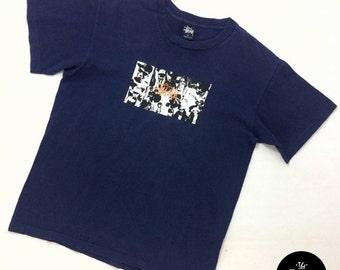 ON SALE Vintage Made in Usa Stussy T Shirt | Vintage 90s Stussy Gangsta Rap Biggie NWA Tshirt | Vintage Stussy Chanel T Shirt |