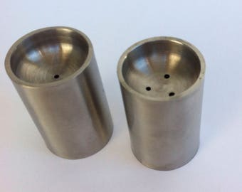Stainless Steel Mid Century Salt and Pepper Shakers designed by ARNE JACOBSEN