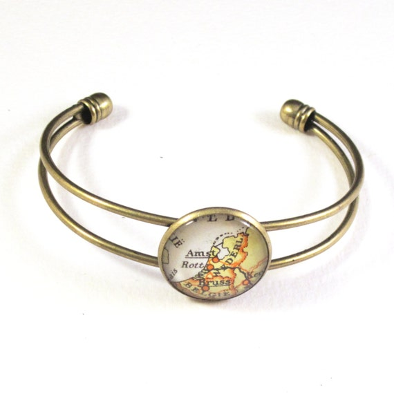 World map bracelet
