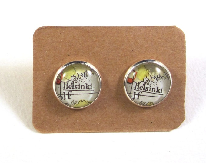 World map ear studs - Europe variations