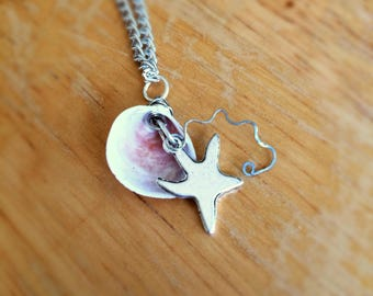 Seashell and Starfish Necklace