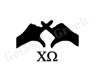 Chi Omega Hand Sign Decal