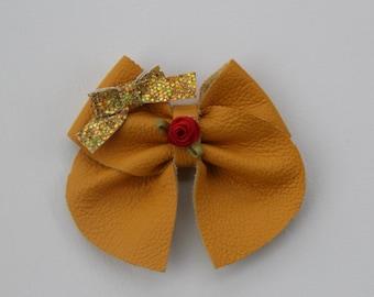 Belle Inspired Disney Bow