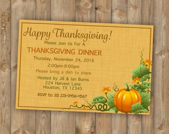 Printable Thanksgiving invitations, Party invitations, Thanksgiving invite, Thanksgiving Party Invites, Thanksgiving Dinner Invitations