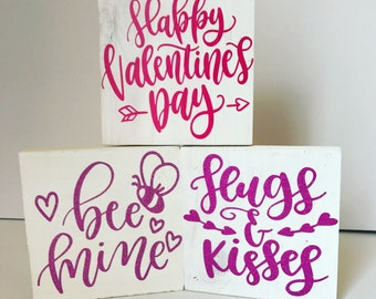 Valentine's Day blocks|FREE SHIPPING