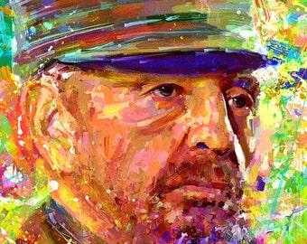 Portrait Fidel Castro dream by ILIA ADIYAKOV