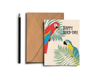 Happy Bird-Day Blank Card