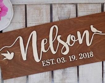 3D Last Name Sign | 3D Wedding Established Sign | Family Name Sign | Wedding Family Name Sign | Wedding Name Sign | Wedding EST Sign