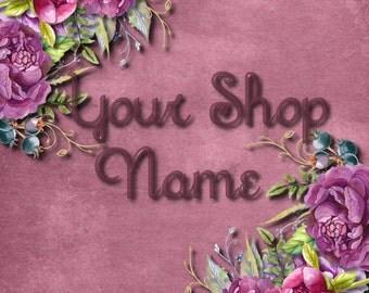 Floral Banner Set, Shop Banner Set, Custom Banner, Banner Design, Premade Banner, Graphic Design, Etsy Shop Design, Banner Set