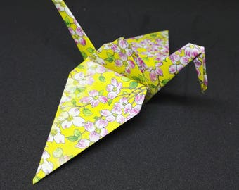 20 Origami Crane. Yellow Flower