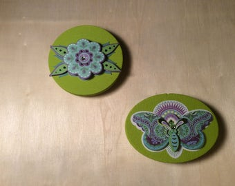 Wooden Green Magents set of 2