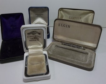 Vintage Jewelry Cases Lot Of 5
