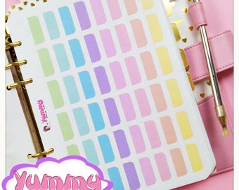 2 Sheets Rainbow Dividers Tab Stickers (A5)