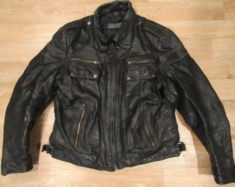 Vintage Harley Davidson Leather Jacket Motorcycle Coat Women's 70s