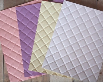 Embossed Stitched Cardstock/ faux stitched cardstock/ quilted cardstock/ quilted embossed cardstock/ cardstock/ embossed cardstock/ quilted