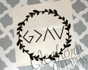 God Is Greater Than The Highs and Lows Decal | God Is Greater Decal | Christian Sticker | Christian Car Decals | Christian Decals | Faith