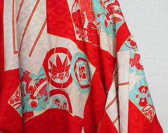 second hand juban, garment worn under kimono, Japanese vintage juban for women, silk