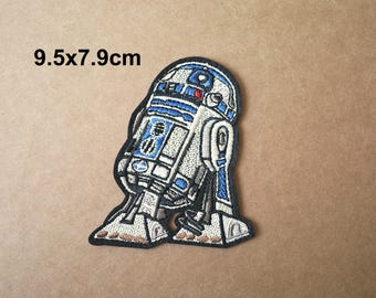 R2D2 patch, Star Wars patches, Applique Embroidered patch, Iron on patches, Sew on patch, WS-140