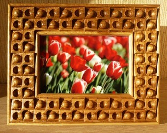 Photo Frame Wooden Picture Frame Natural Oak Wood Carving Free Shipping Hardwood Souvenir Birthday Father Mother's Day Gift