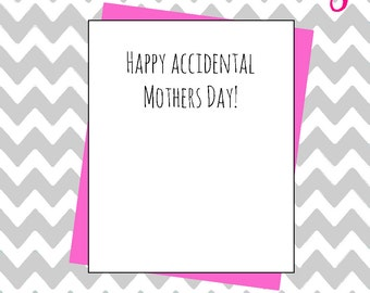 Happy accidental mothers day funny joke mistake greeting card hilarious banter novelty card