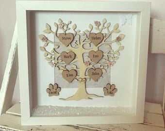 Family Tree Frame, Personalised Gift, Unique Gift, Wedding, Mothers Day, Valentines, Birthday