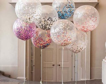 Bespoke Large Confetti Balloons 3ft, Party Balloons, Wedding Balloons, Party Decor