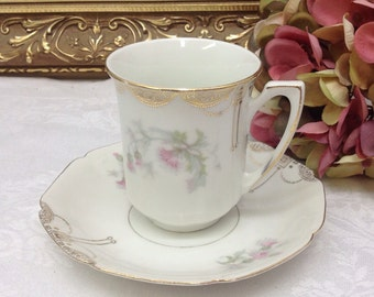 Bavarian demitasse teacup and saucer