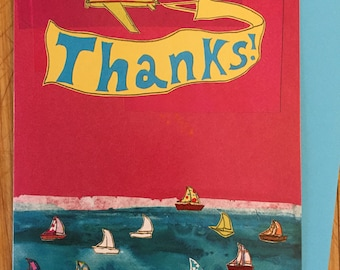 Thanks Boats Greeting Card