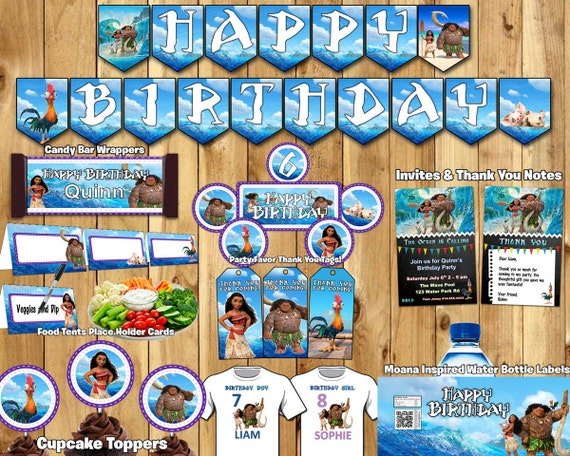 Moana Birthday Party Package For Him