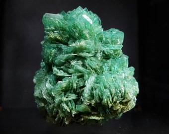 Green alum crystal cluster, lab grown mineral specimen, man made crystals, attractive rock collection  display specimen