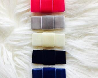 Handmade Velvet Bow Headband or Hair Clip