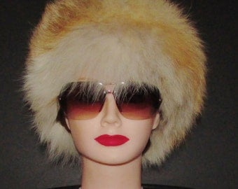 Très beau chapeau de fourrure de  renard roux/Beautiful red fox  fur hat     size   small
