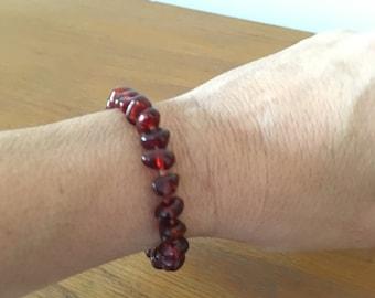 Baltic Amber bracelet // vintage amber