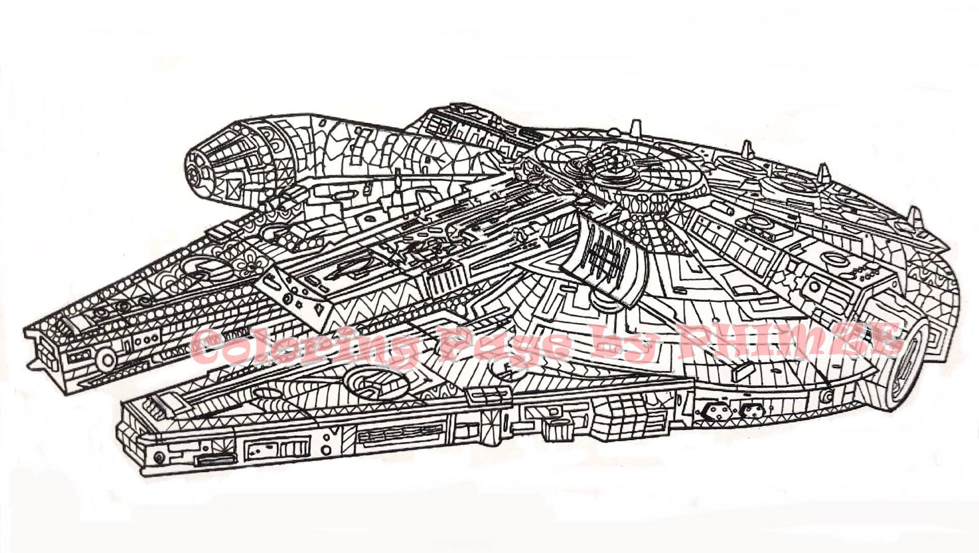 Millennium Falcon Star Wars Coloring Page Pages