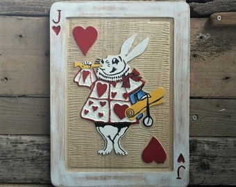 Alice in wonderland 'white rabbit' plaque