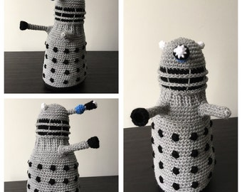 Handmade plush crochet Dalek from Doctor Who