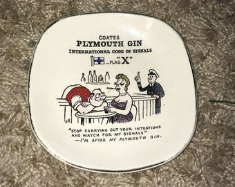 Unusual Vintage Novelty Coates Plymouth Gin 'International Code Of Signals' Pin Dish!