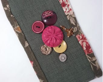 Cuff Bracelet with Button Embellishments