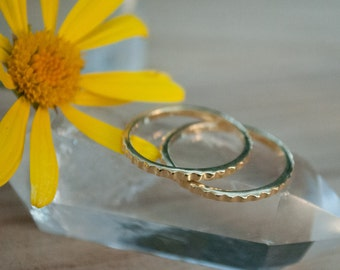 Thin Gold Vermeil Ring* Stackable Ring* Delicate * Simple * Everyday * Gift for her *Hippie * Boho *Thin gold band * Stack BJR031