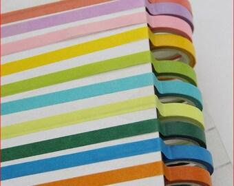 10 colour washi tapes